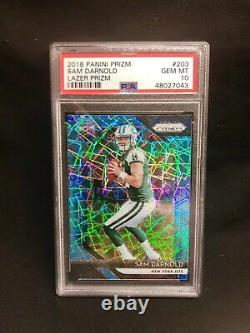 (10) Psa 10 Sam Darnold 2018 Rc Rookie Card Investment Lot! Optic Prizm Wow