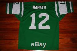 #12 Joe Namath New York Jets Mitchell and Ness Throwback Jersey (58, 4X-Large)