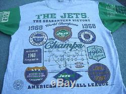 1968 New York Jets world Champions T Shirt From 1993 UNIQUE Shea Stadium