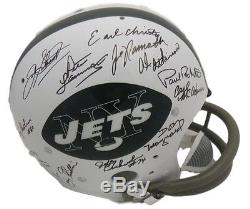 1969 NEW YORK JETS SUPER BOWL III TEAM SIGNED TK HELMET with24 SIGS 14206 STEINER