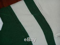 1970s NEW YORK JETS VINTAGE GAME FOOTBALL JERSEY RAWLING'S DURENE USED WOODALL