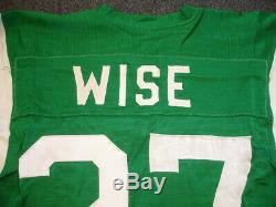 1971 Phil Wise New York Jets Game Used Home Durene Jersey #27 with repairs