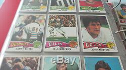 1975 Topps Football Complete Set (1-528) Fouts Swann, Theismann Rc