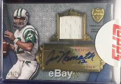 2012 Topps Supreme Joe Namath Autograph GAME USED Jersey Relic/25 New York Jets