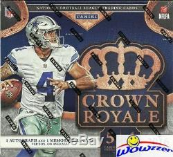 2016 Panini Crown Royale Football Factory Sealed Retail Box-2 AUTOGRAPH/MEM