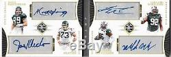 2017 Limited New York Jets Quad Auto Booklet #'d 3/4
