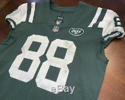 2017 New York Jets Nike Authentic Home Game Used Jersey Size 44