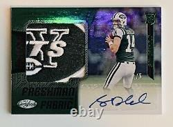 2018 Certified SAM DARNOLD Mirror Emerald Etched RC Logo Patch Auto # 3/5 RPA