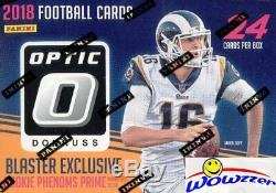 2018 Donruss Optic Football EXCLUSIVE Factory Sealed Blaster Box-ON FIRE