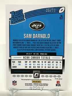 2018 Donruss Optic Sam Darnold Blue Rated Rookie Auto 25/75