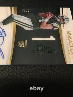 2018 Immaculate Sam Darnold Rpa Rookie Numbers Dual Auto Patch Ssp # 6/14 Jets