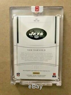 2018 National Treasures Auto #21/25 Sam Darnold RC Rookie RS-SD MINT