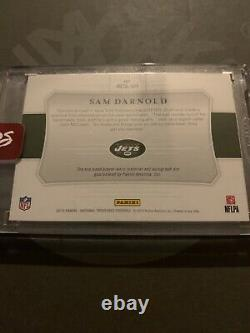 2018 National Treasures. Sam Darnold. Auto. Rookie Patch. Rc. Sp. /25. Jets