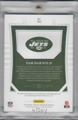 2018 National Treasures Sam Darnold RPA RC Rookie Jets Patch AUTO 35/99