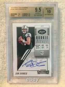 2018 Panini Contenders Sam Darnold Rookie Ticket Auto BGS 9.5 Gem Mint