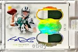 2018 Panini Flawless SAM DARNOLD Jersey #14/25 Gold 2 Color Rookie Patch Auto