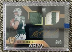 2018 Panini Gold Standard Sam Darnold Rookie Dual Patch Auto Gold-Ink /25