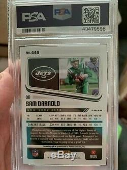2018 Panini Honors Sam Darnold GREEN END ZONE AUTO RC PSA 10 5/6 NEW YORK JETS