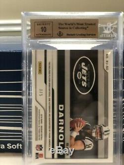 2018 Panini Obsidian Sam Darnold Red Rookie JETS LogoPatch Auto # 3/5 RC BGS 9.5