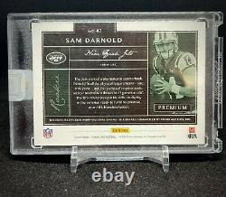 2018 Panini One SAM DARNOLD Premium Rookie Patch Autograph RPA Gold #2/10 SEALED