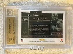2018 Panini One Sam Darnold RC Gold Patch Auto #4/10 BGS 9.5 Gem Mint