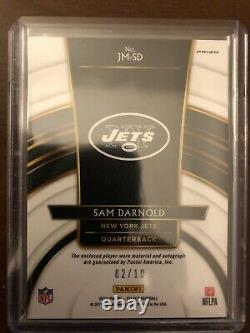 2018 Panini Select SAM DARNOLD ROOKIE PATCH AUTO GOLD SSP #/10 NEW YORK JETS