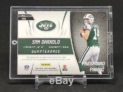 2018 Sam Darnold PANINI CERTIFIED BLUE SP ROOKIE RC JERSEY PATCH AUTO #d/50