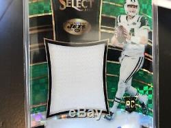 2018 Select Sam Darnold Auto /5 RPA Rookie Patch Auto Green Prizm NY Jets RC SSP