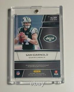 2018 Spectra Football Sam Darnold Rookie Patch Auto Rpa /60 Green NEW YORK Jets