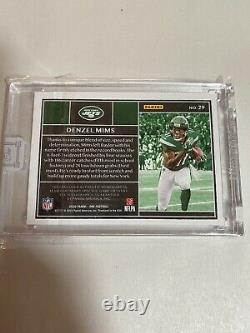2019-2020 Panini One Denzel Mims #29 Rookie Patch Auto /10 RC Jets