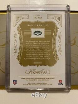 2019 Panini Flawless Football Signature Gloves Sam Darnold Patch/Auto Card #1/2