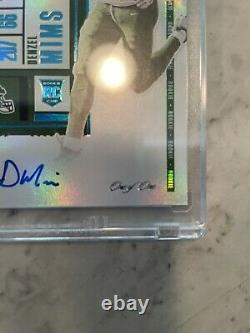 2020 Panini Contenders Denzel Mims Super Bowl Ticket Rookie Auto Variation #1/1