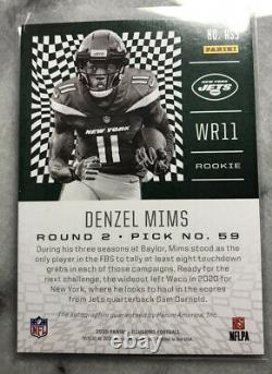 2020 Panini Illusions Denzel Mims RC Auto ROOKIE SIGNS 1of1! 1/1