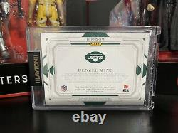 2020 Panini National Treasures Denzel Mims 1/1 Shield RPA Patch Auto SSP Jets