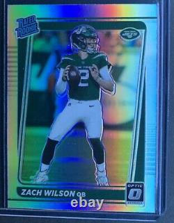 2021 Donruss Optic Preview Zach Wilson Rated Rookie Rc Holo Prizm Sp No. P-252