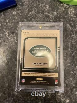2021 Panini Gold Standard Football Zach Wilson Rpa Auto /49 Invest! Jets! RC