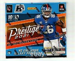 2021 Panini Prestige Football H2 HOBBY BOX Exclusive Galaxy Parallels 10 Packs