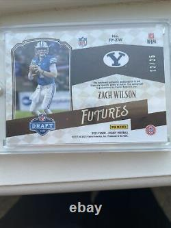 2021 Panini legacy Zach Wilson Rookie Patch And Autograph /25