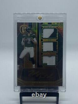 21 Panini Gold Standard Zach Wilson Rpa Auto /49 Invest Jets RC Rookie Patch