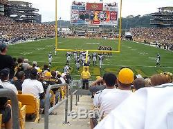2 LOWEST LEVEL & ON AISLE Pittsburgh Steelers vs. New York Jets tickets 10/09/16