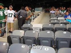 2 New York Jets Sbl's Section 128 Row 33