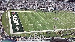 2 New England Patriots at New York Jets Tickets 1st Row