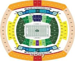2 Pittsburgh Steelers@New York Jets Tickets 12/22 Sec115A Aisle Seats+Parking