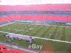 2 of 4 New York Jets Miami Dolphins 11/4/18 Hard Tickets sideline