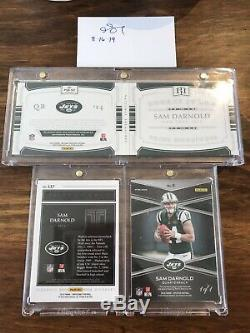(3) Card Sam Darnold RPA Rookie Patch Shield Auto Lot 1 Of 1 New York Jets