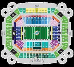 3 Tickets Section 115 Miami Dolphins vs New York Jets 11/06/16 and Parking