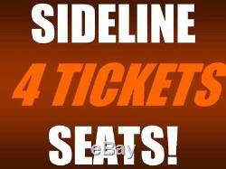 4 tickets Cleveland Browns New York Jets 9/20 AISLE SEATS