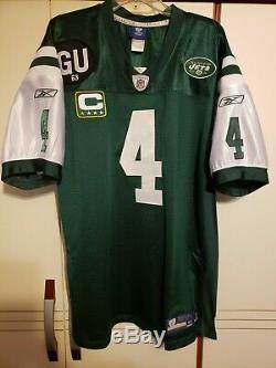 Brett Favre 2008 New York Jets NFL Reebok Authentic Game Jersey Size 52 Packers