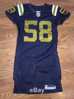 Bryan Thomas New York Jets Game Used Issued Jersey Throwback Titans COA