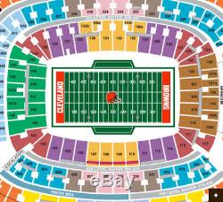 Cleveland Browns vs New York Jets (FRONT ROW Field Level)